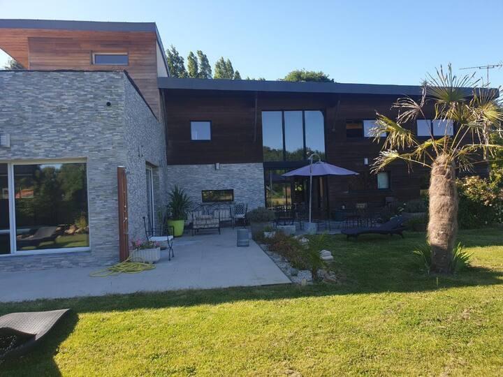 maison piscine intérieure entre Rennes/Saint-malo