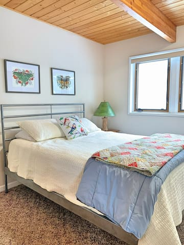 First floor bedroom is private and cozy