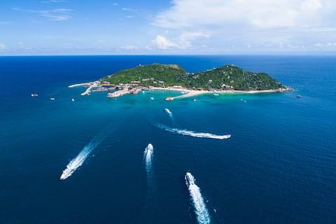 三亚分界洲岛海豚湾客栈|三人间|海岛度假|尽享美景