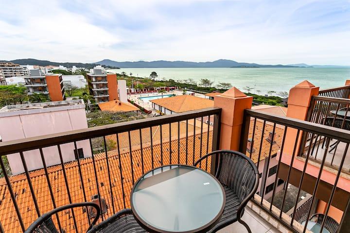 Studio vista mar em resort pé na areia JBV465