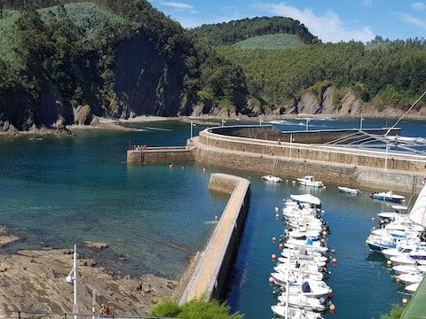 Apartamento en puerto pesquero de la Costa Vasca