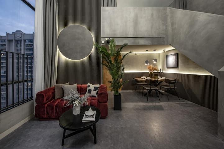 Slivery Villas·荧惑|高层·傍西塔LOFT|宽屏投影|5分钟珠江新城站|直达机场、长隆