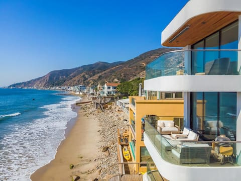 $18 Million Oceanfront Home with Private Beach