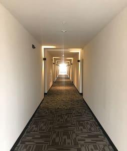 Hallway to the unit.