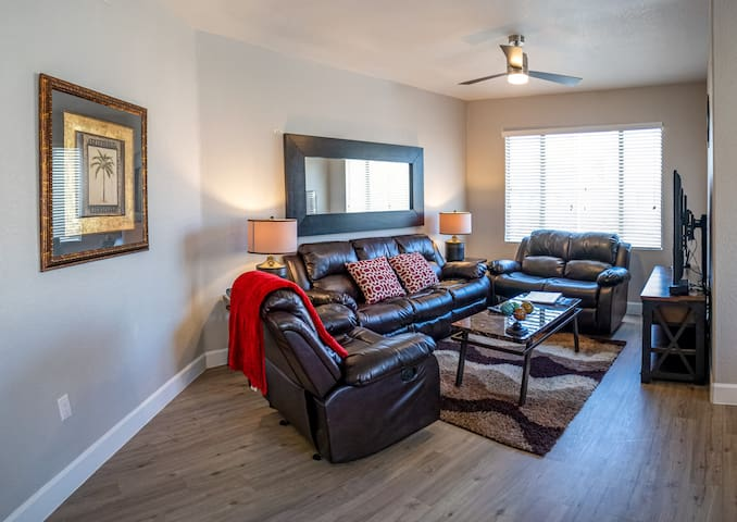 Living Room in each condo