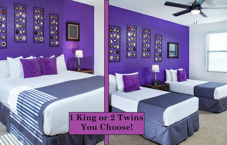 Master bedroom: Customize with 2 XL Twin Beds or 1 King Bed