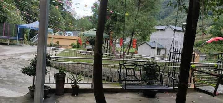 【金银滩农庄】长阳金银滩农庄/KTV/露营/清江画廊/大床一居