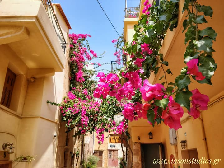 VOUKAMVILIA, picturesque studio in Chania old town