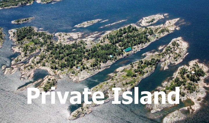 Bigwood PRIVATE ISLAND for 16 in Georgian Bay WIFI