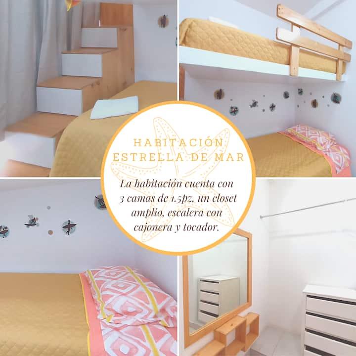 """Habitación Estrella de Mar - """"El Quilla"""" / PH"""