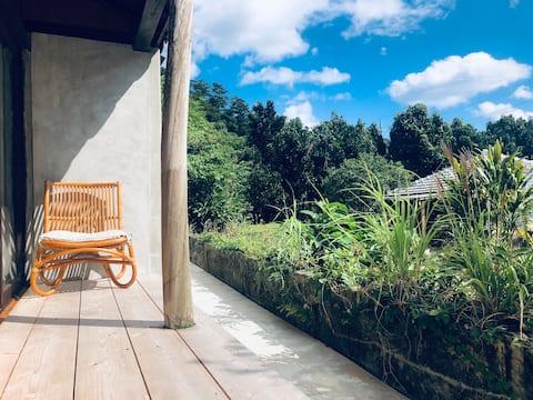 国頭村安波にある一棟貸し宿、HABUMAN OKINAWA (2020年10月オープン)