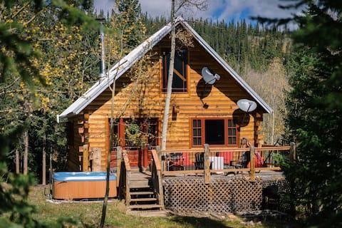 Camarote aislado y acogedor con bañera de hidromasaje, a 30 minutos de Breck