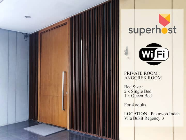PRIVATE ROOM : ANGGREK Room - PAKUWON INDAH