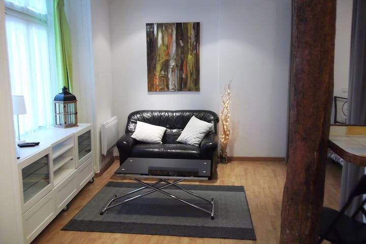 Appartement chaleureux au coeur du village.