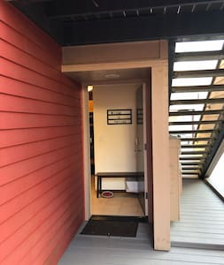 Entryway is level with the outside.