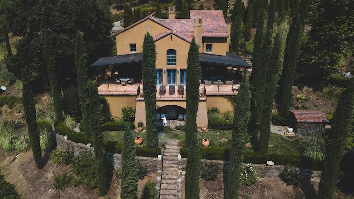 NEW Sierra Foothills, Italian Tuscan Villa Retreat