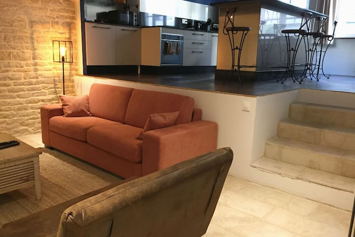 Loft 70 m2 et cour de 25 m2