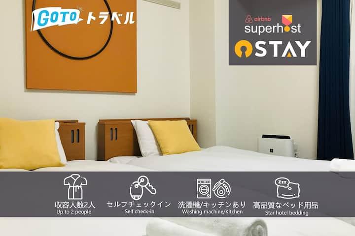 Sta.2mins/Easy access to Shinsaibashi/UMEDA/USJ