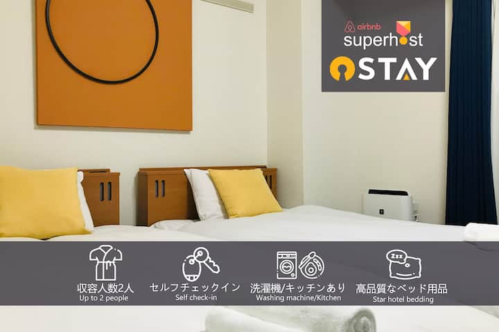 Sta.2mins/Easy access to Shinsaibashi/UMEDA/USJ