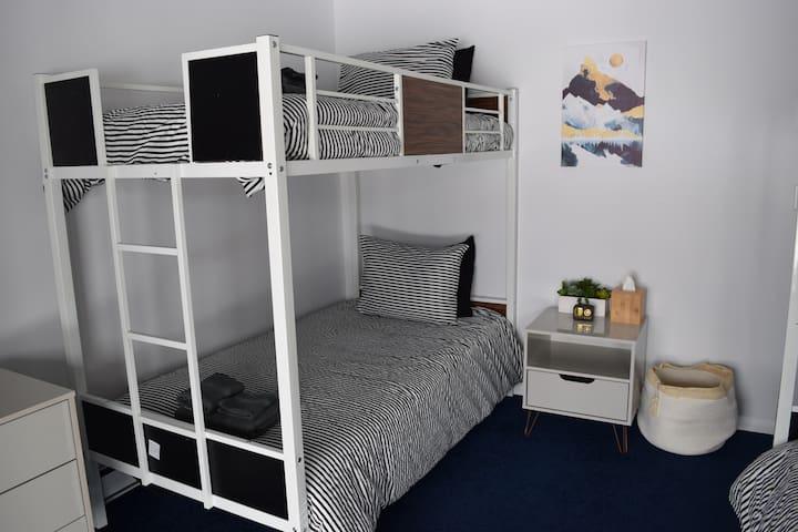 Bedroom - Side by Side Bunk Beds