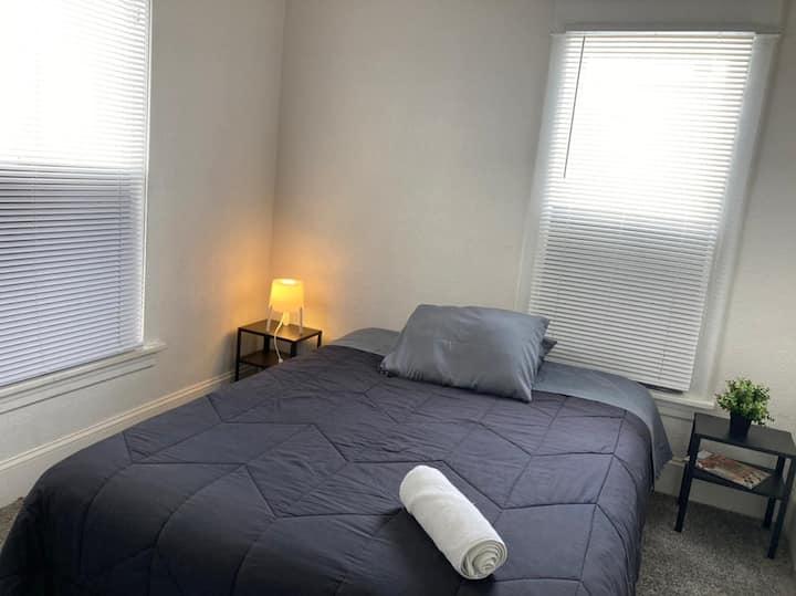 Cozy bedroom in a cozy house