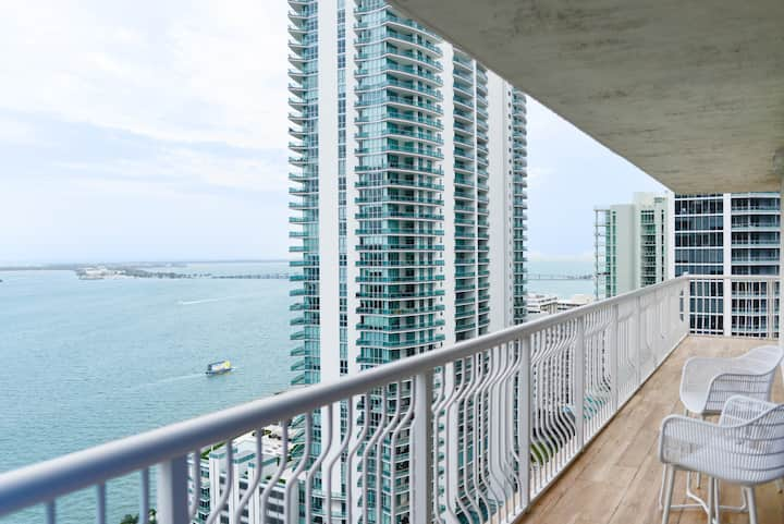 *Direct Ocean View, stunning 26th floor @Brickell*