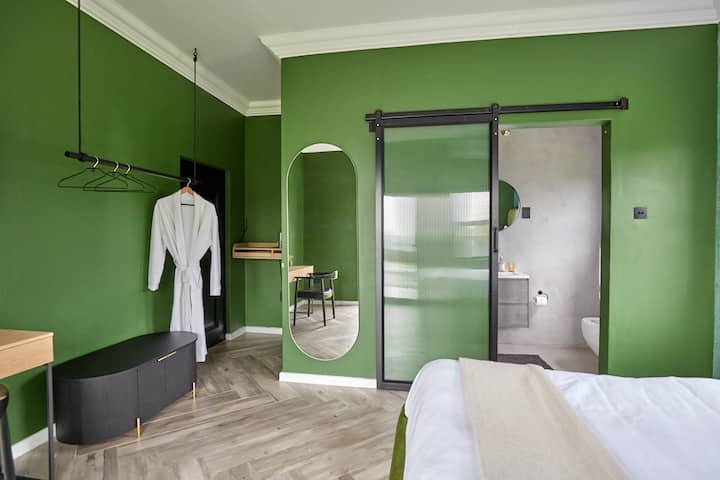 Rwanda forest inspired boutique hotel room