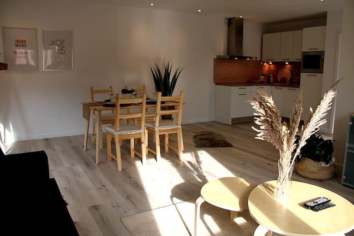 Livingroom et salle a manger avec beaucoup lumière!