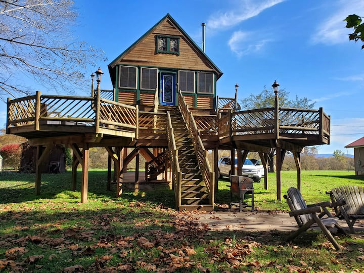 Blue Ridge Mountain, Shenandoah Riverfront Cabin