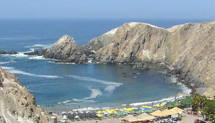 Las hermosas playas de Mollendo.