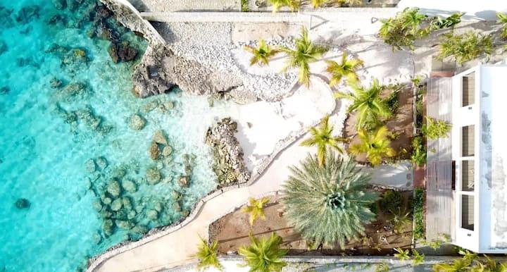 Unique oceanfront villa with private beach