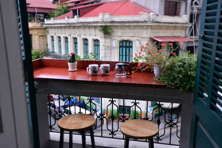 Authentic Home in Old Quarter/ Balcony & City View