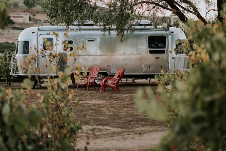 Vineyard Airstream Escape STEPS from wineries!