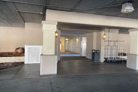 Easy access from the designated parking spot on the ground floor to the elevator.