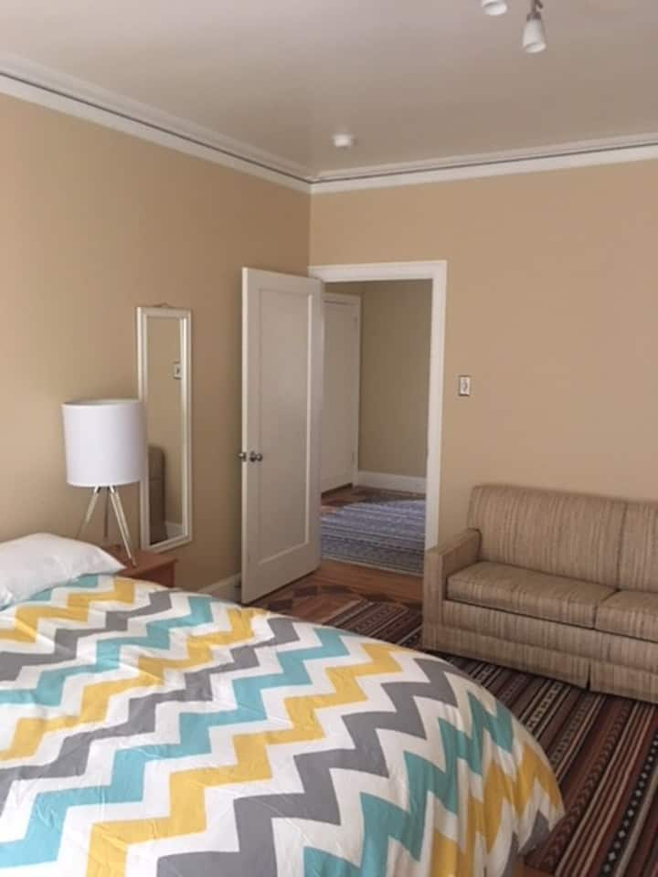 Master bedroom in beautiful & fully furnished flat