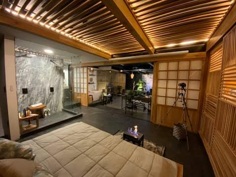 Departamento entero , estilo japonés en San Ángel.
