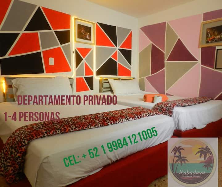 B-Estudio Privado 2- A 10 Min De Las Playas (4pax)