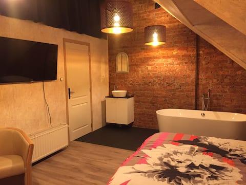 Przestronny pokój w odległości spaceru od centrum Kortrijk
