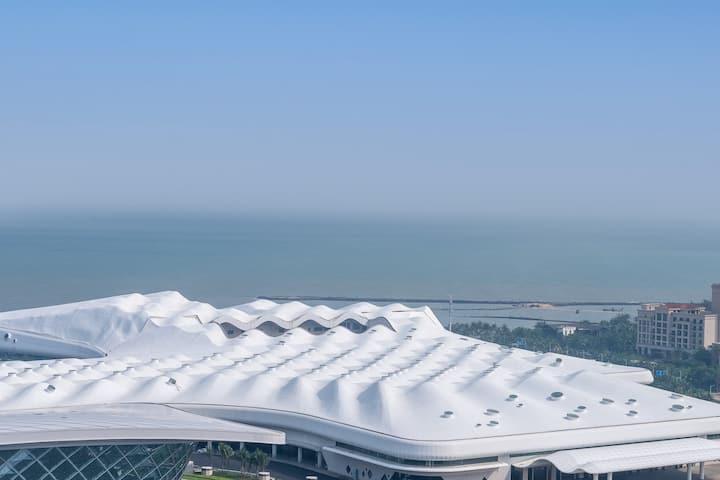椰宿-高层海景、海南国际会展中心、五源河体育场、远大购物广场、新海港