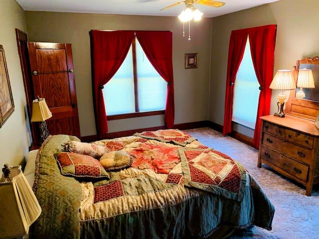 Elegant, yet comfortable bedroom.