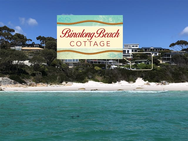 BINALONG BEACH COTTAGE  Beachfront with King bed