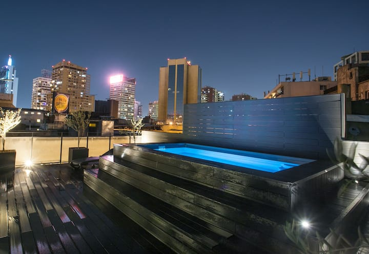 Depto B con terraza privada y piscina en azotea