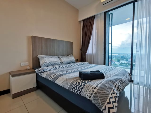 Studio Interior View: 1 Queen Bed (Floor Mattress will be provided for the 3rd pax in booking)