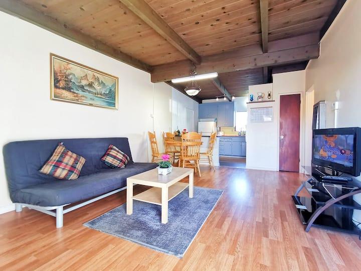 5529 - Comfy 2B1B Ground Apartment near HWY 580/80
