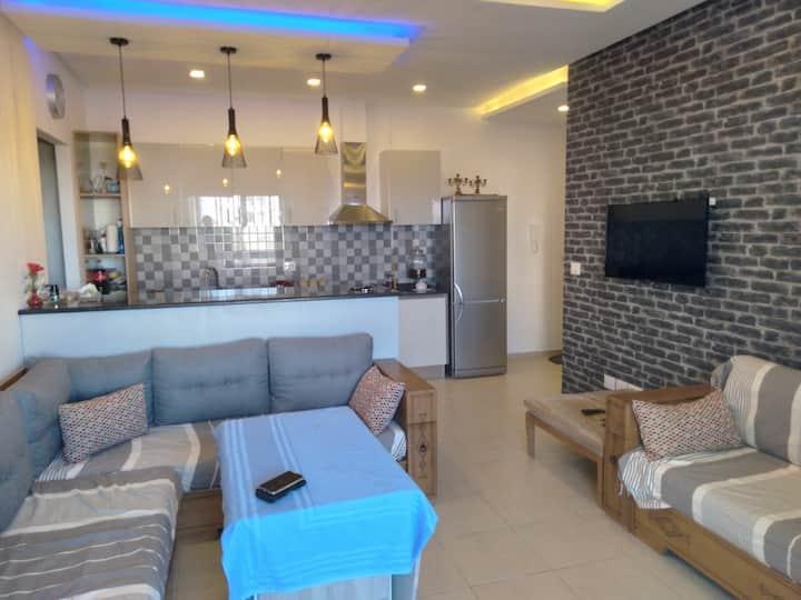 Appartement moderne, vue mer