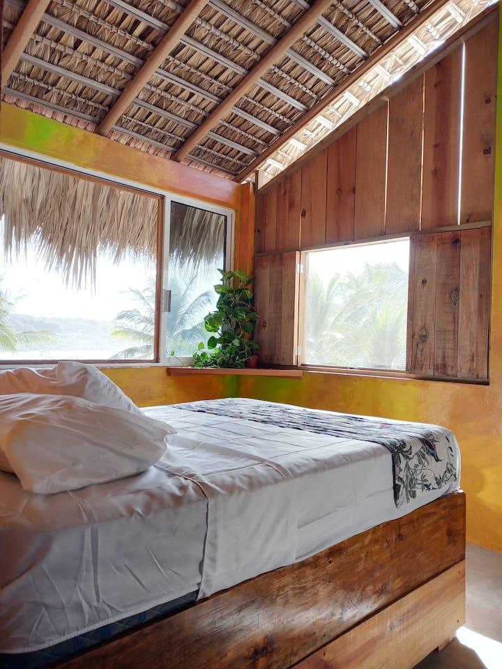 Cabaña  con terraza w/oceanview en Punta Zicatela