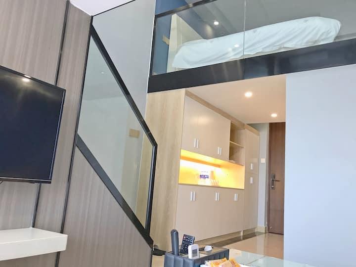 【米多轻居酒店公寓】亲子复式三床房二 近香港、澳门、国际会展中心