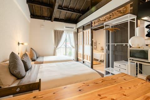 Høj terning træ stil værelse 205 med kælder ventilator