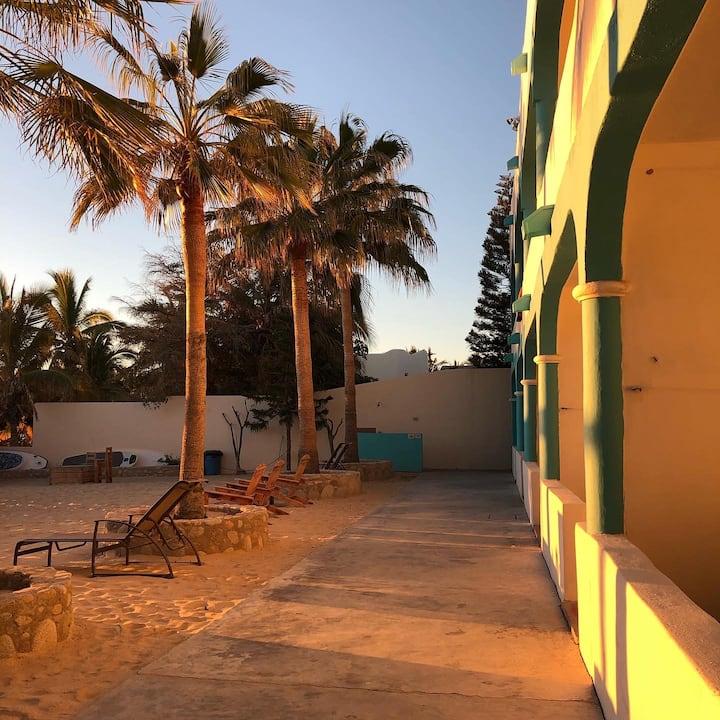 Beach front private rooms in La Ventana