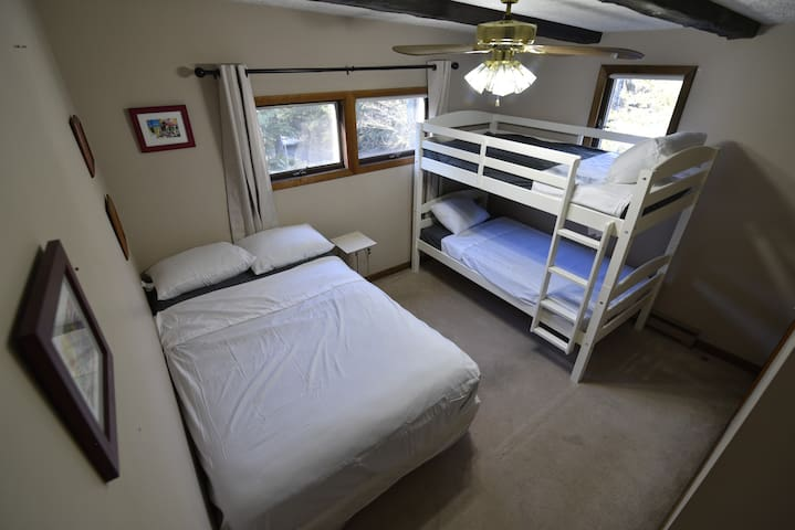 Second bedroom can easily accommodate 4.